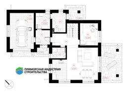 Планировка первого этажа дома S-002 А