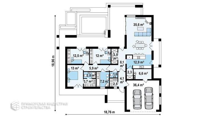 Планировка дома HAUS-006