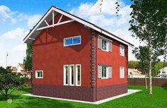 Проект двухэтажного дома B-006