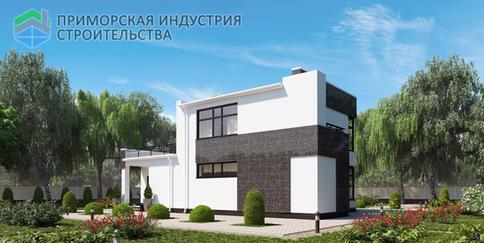 Проект современного дома A-003