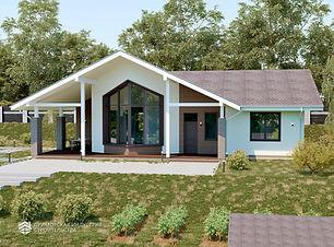 Проект дома с террасой Владивосток