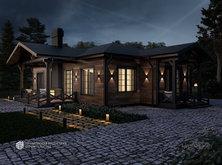 Проект загородного одноэтажного дома HAUS-870