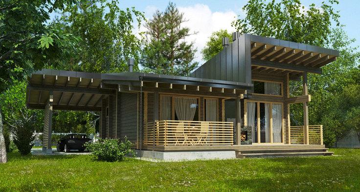 Проект гостевого дома BRUS-118