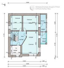 Планировка второго этажа дома HAUS-0-03