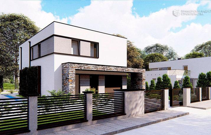 Современный проект дома HAUS-011