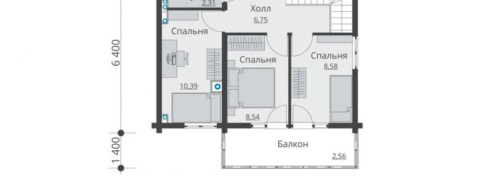 Планировка первого этажа дома B-005