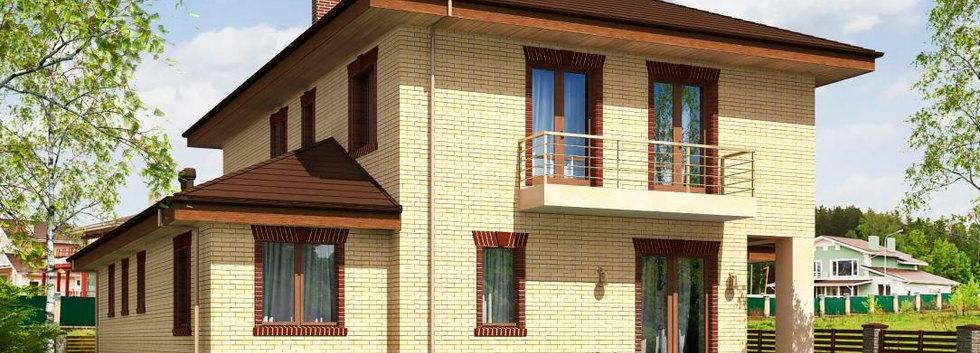 Проект двухэтажного дома B-002
