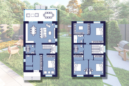 Поэтажная планировка кирпичного дома BR-404
