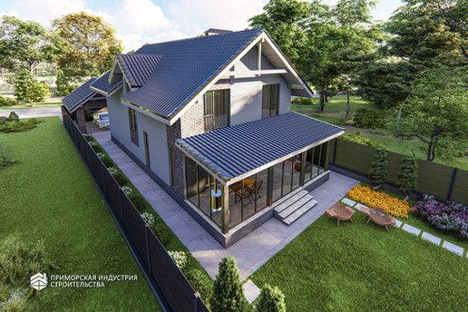 Проект кирпичного дома BR-404