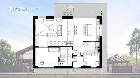 Планировка проекта двухэтажного дома DA-032