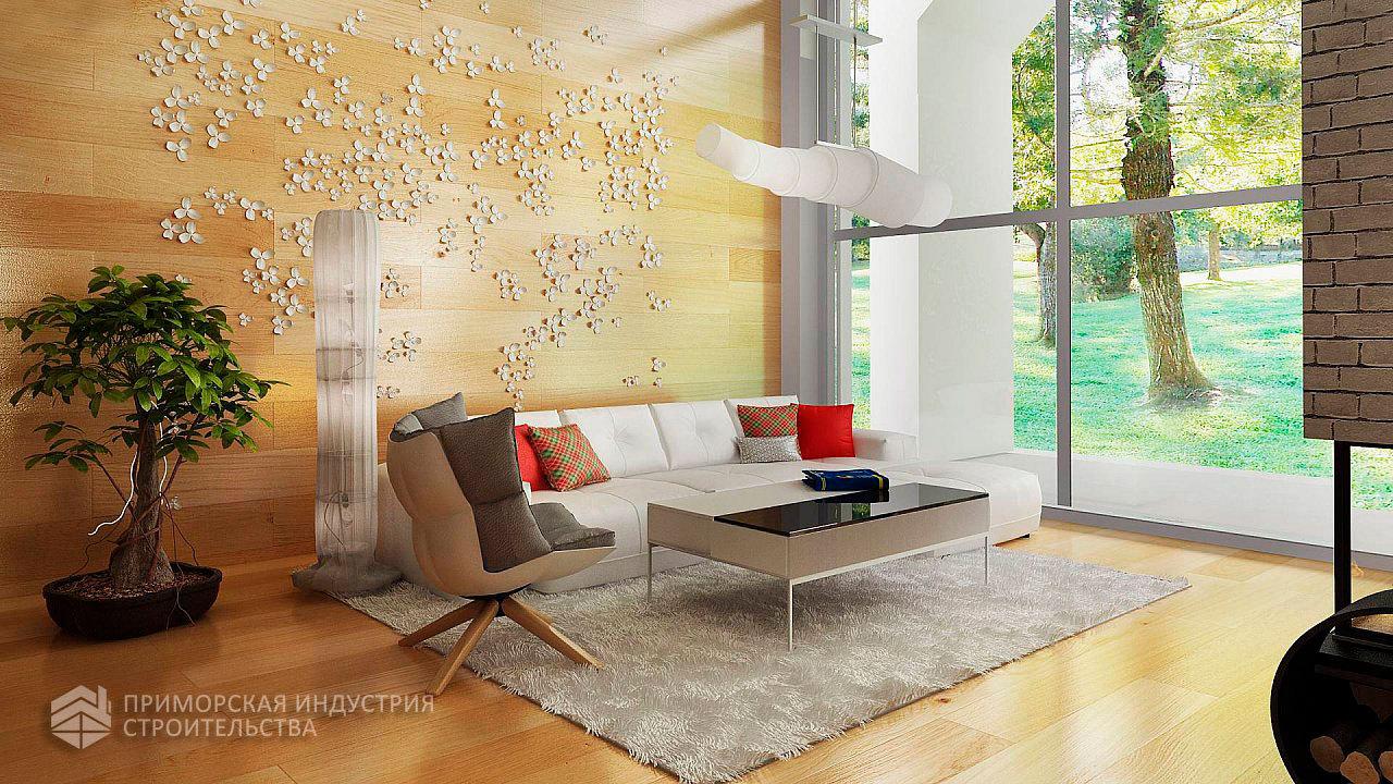 Интерьер дома ангарного типа ANGAR-003