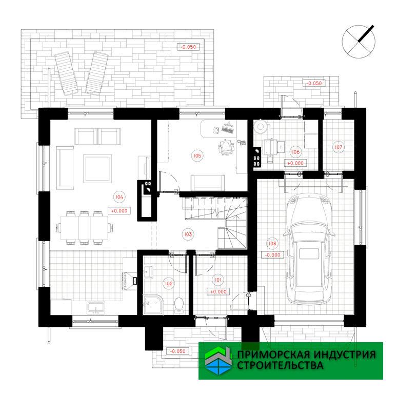 Планировка превого этажа