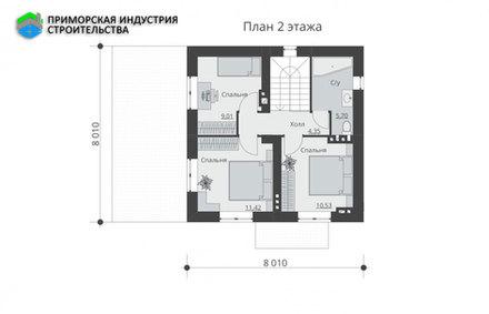 Планировка первого этажа дома B-011