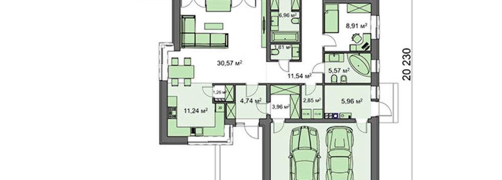 Планировка современного дома H-005
