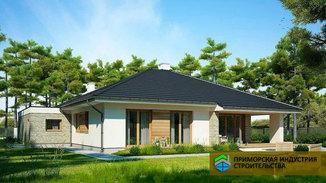 Проект одноэтажного дома H-008