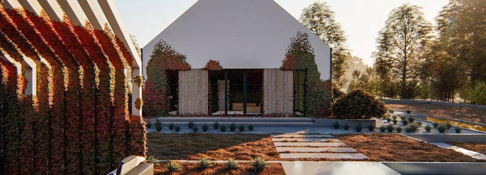 Проект современного дома ANGAR-012