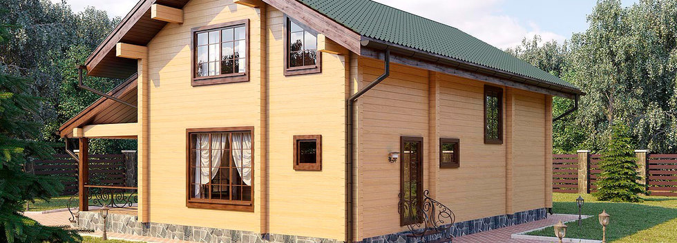 Проект деревянного дома BRUS-001