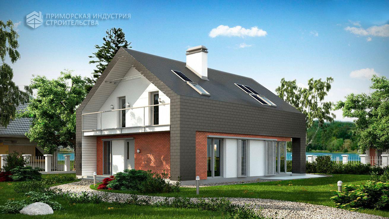 Проект современного дома ANGAR-004