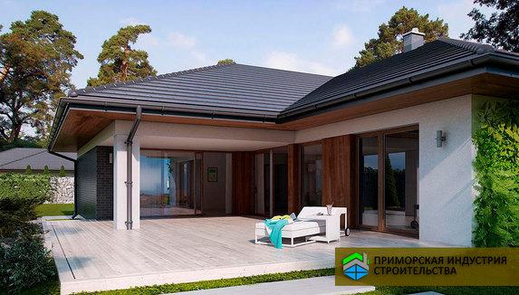 Проект одноэтажного дома H-004