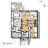 Планировка первого этажа дома BR-032