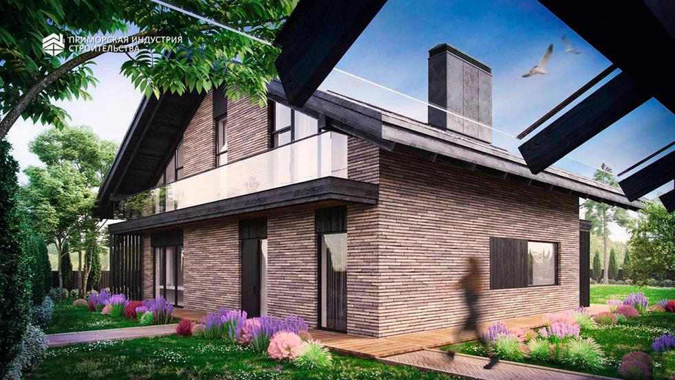 Проект двухэтажного дома DA-032