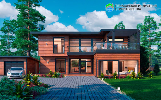 Проект двухэтажного дома А-008