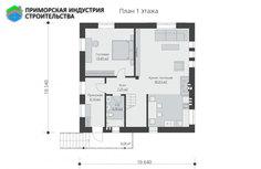 Планировка первого этажа дома B-006