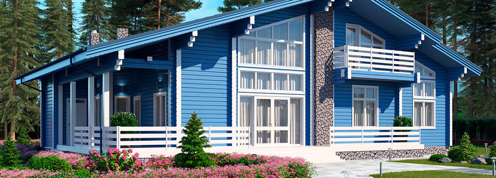 Проект дома из клееного бруса KANAD-071