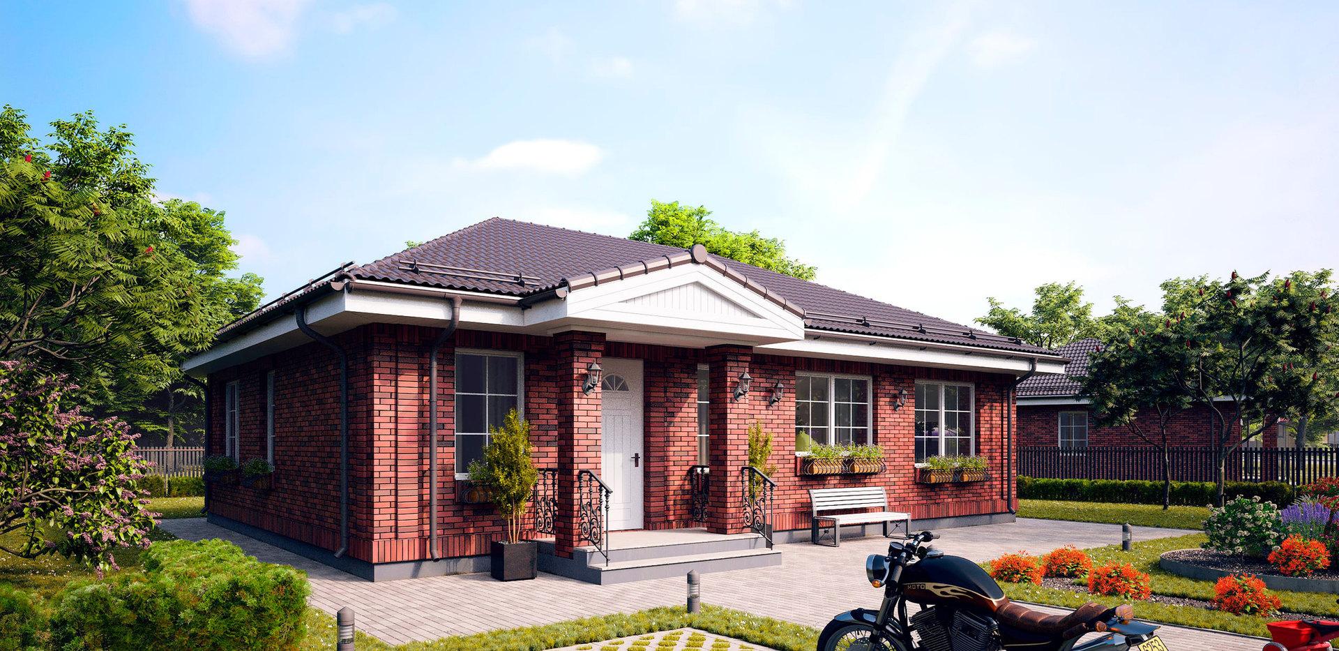 Проект кирпичного дома BR-067