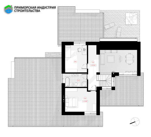 Планировка второго этажа дома S-004