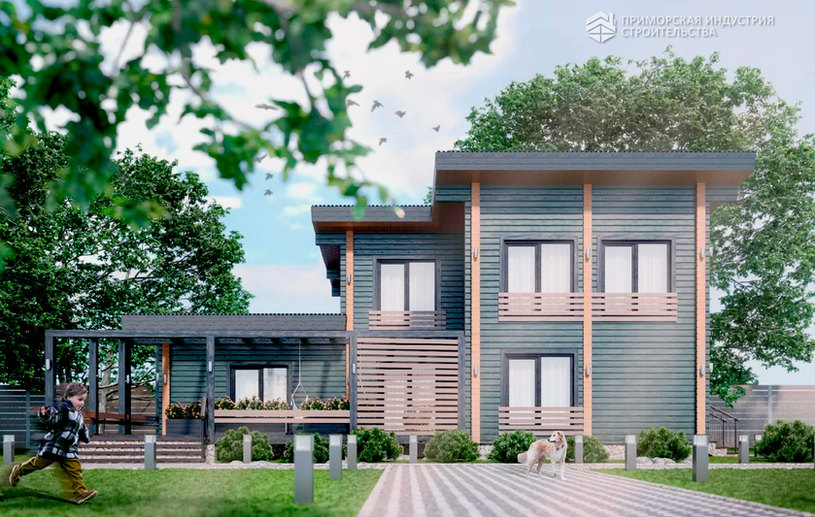 Проект деревянного дома BR-802
