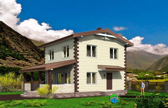 Проект двухэтажного дома B-011