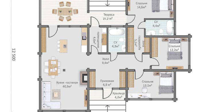 Проект дома HAUS-821