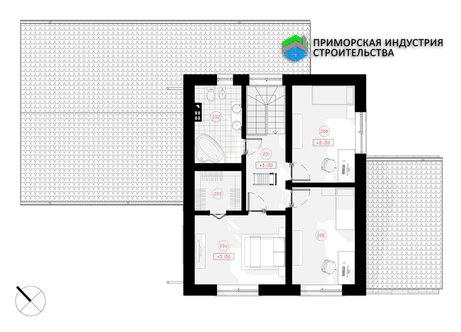 Планировка второго этажа дома S-002 А