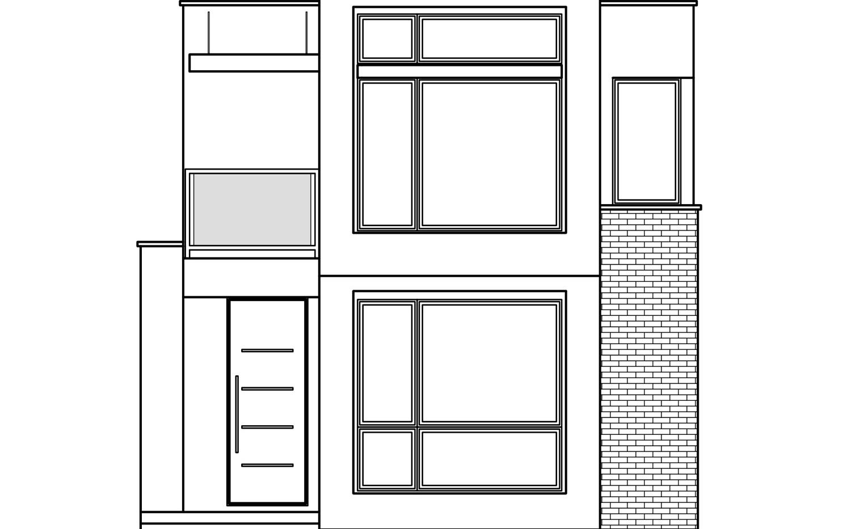 Фасад дома F-006