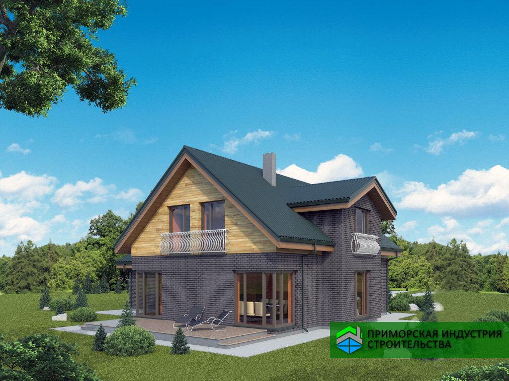 Проект дома с мансардой G-004