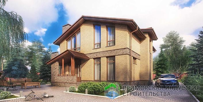 Проект двухэтажного дома A-002