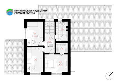 Планировка второго этажа дома S-002 Б