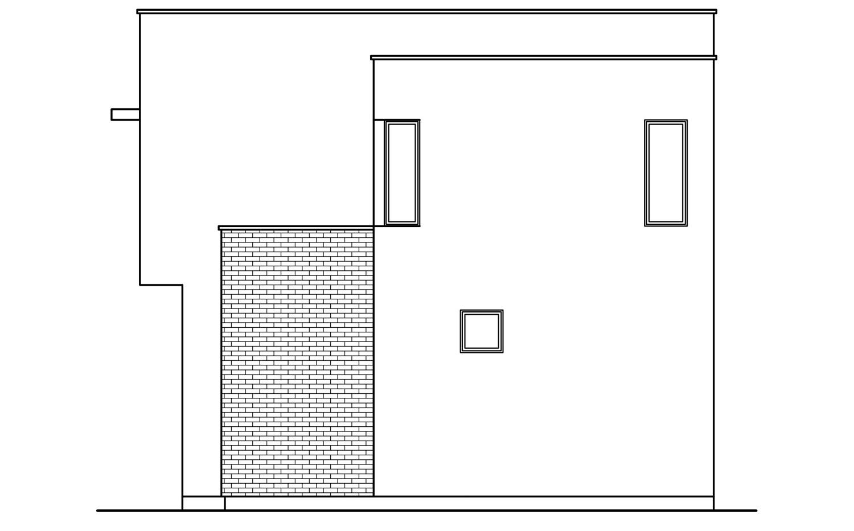 Фронтальная проекция дома F-006