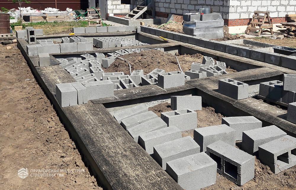 Стены из блоков строительство во Владивостоке