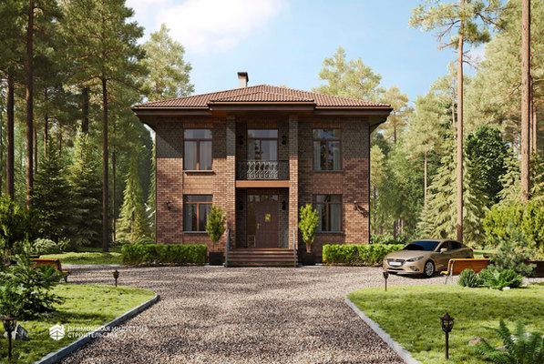 Проект двухэтажного дома BR-032