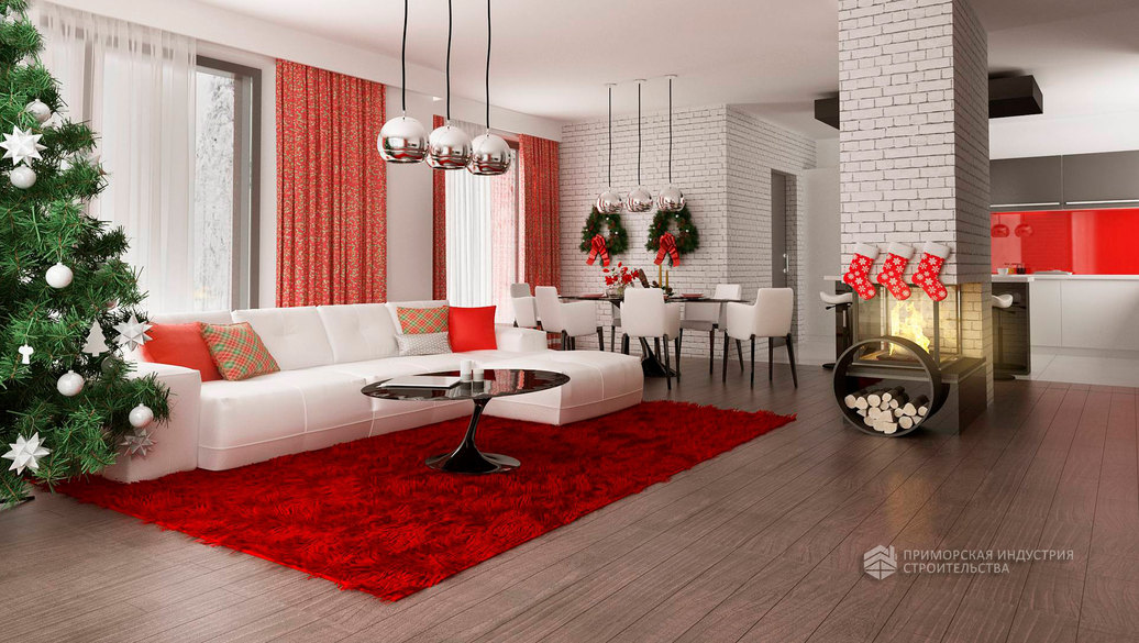 Интерьер одноэтажного дома STYLE-006 