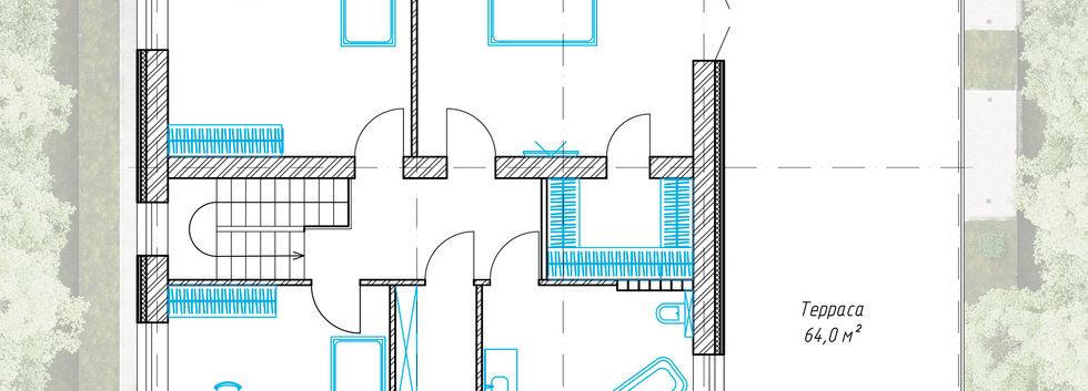 Планировка второго этажа дома AP-001