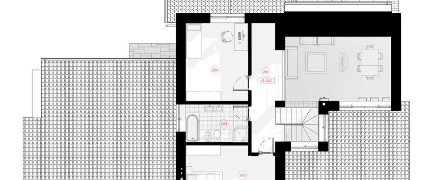 План мансарды дома G-005