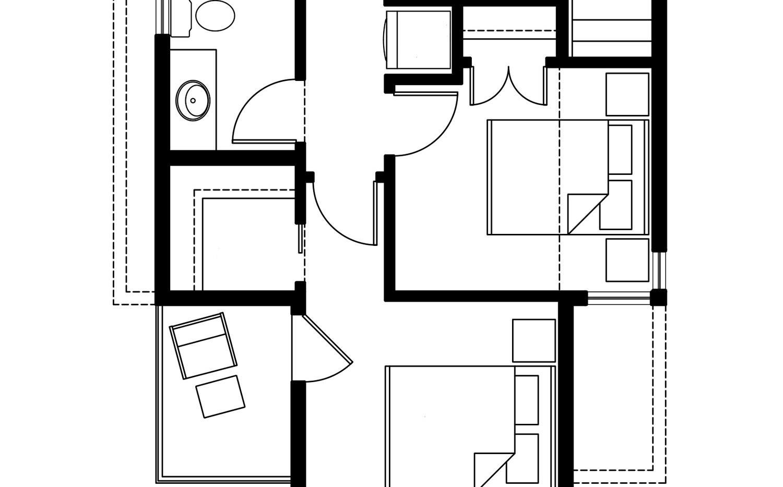 Планировка второго этажа дома F-006