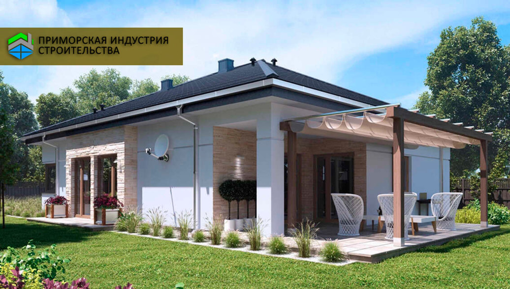 Проект дома с террасой H-007