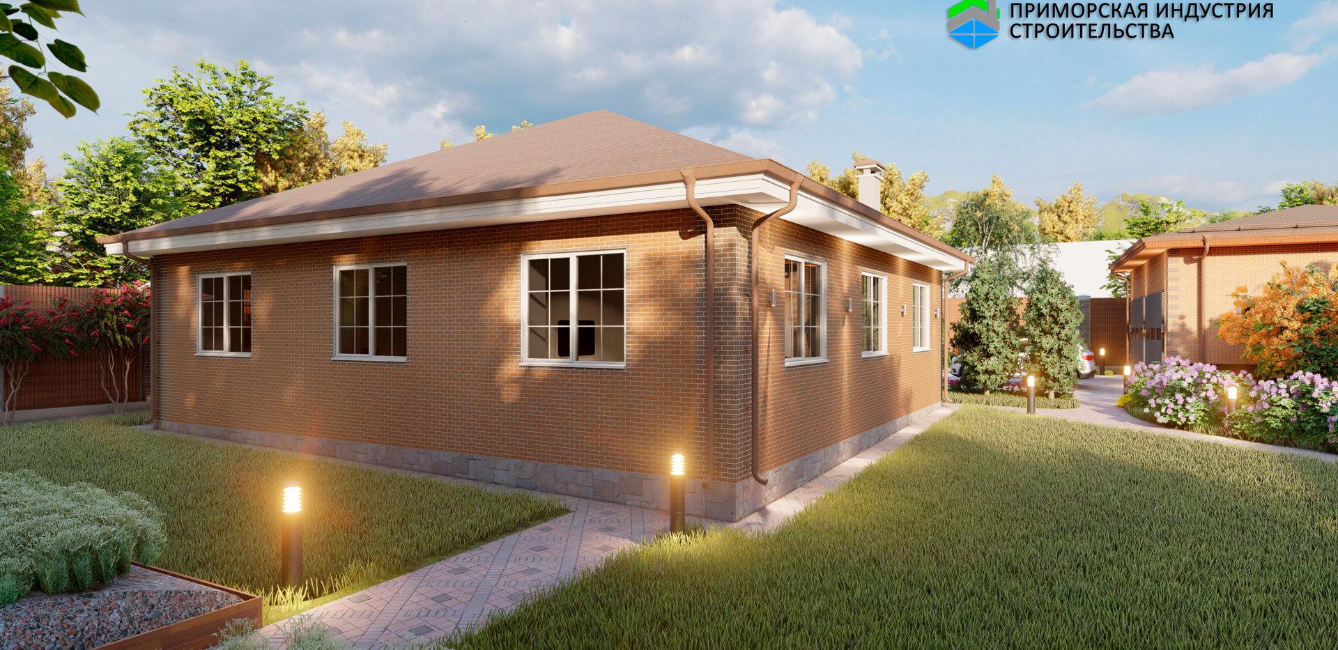 Проект одноэтажного дома A-007