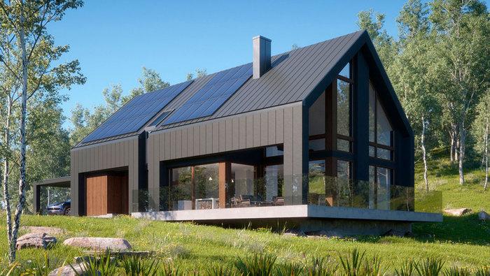 Проект современного дома ANGAR-014
