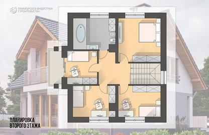 Планировка мансардного этажа дома HR-021