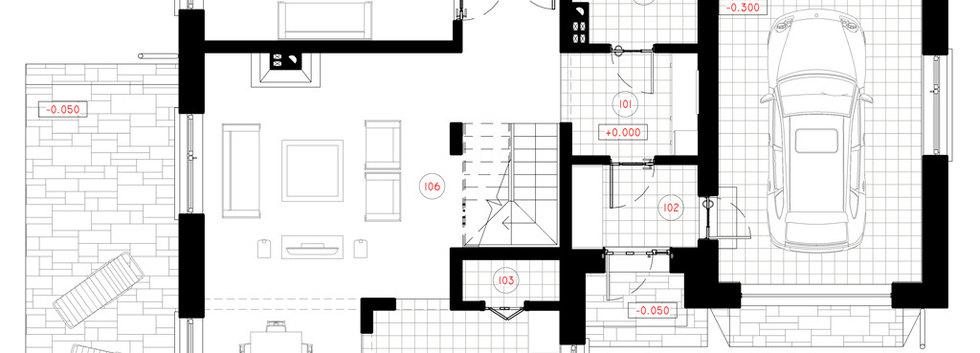План первого этажа дома G-002